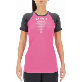 UYN Marathon Maglietta a Maniche Corte Donna, rosa/grigio